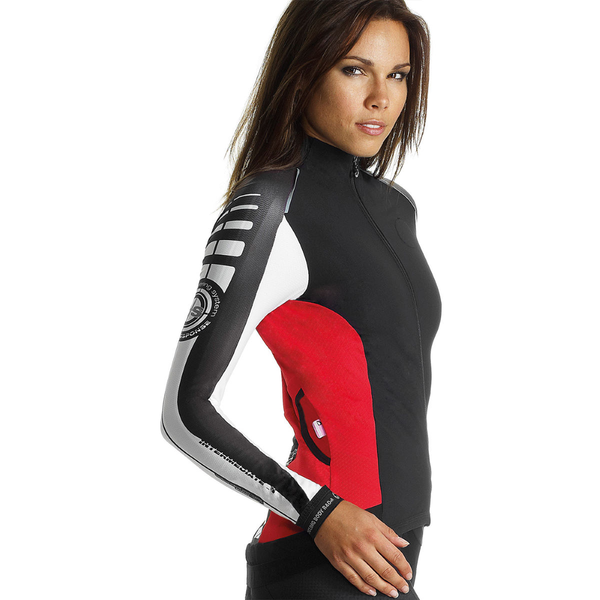 Maillot Femme Assos iJ.intermediate_s7 (coupe-vent) - L Red Swiss