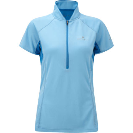 Ronhill Ladies Trail Short Sleeve Zip Tee- -  SS13