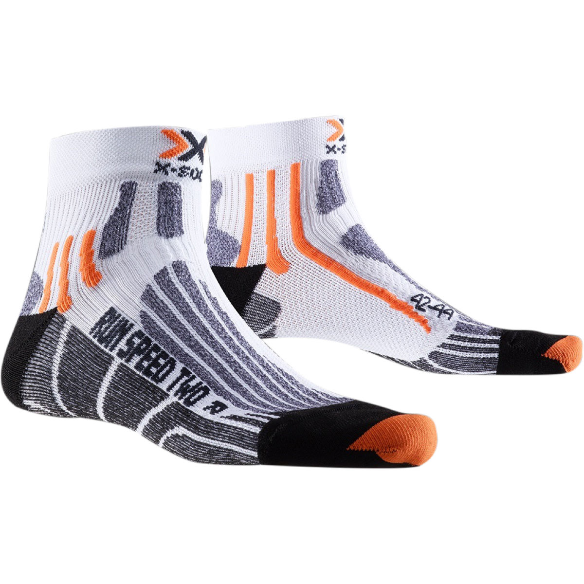 Chaussettes X-Socks Run Speed Two - 10-12 UK Blanc/Noir Chaussettes