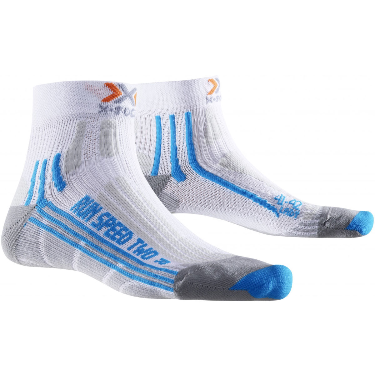 Chaussettes Femme X-Socks Run Speed Two - 4-5 UK White/Turquoise