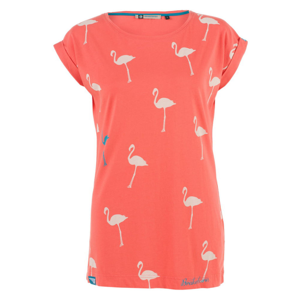 brakeburn flamingo boyfriend t shirt f r damen t shirts wiggle deutschland. Black Bedroom Furniture Sets. Home Design Ideas
