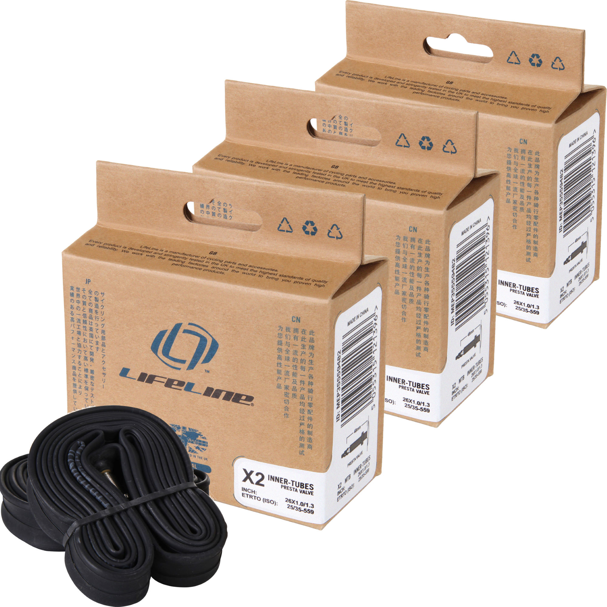 chambres air vtt lifeline essential mtb narrow inner tubes 6 pack wiggle france. Black Bedroom Furniture Sets. Home Design Ideas