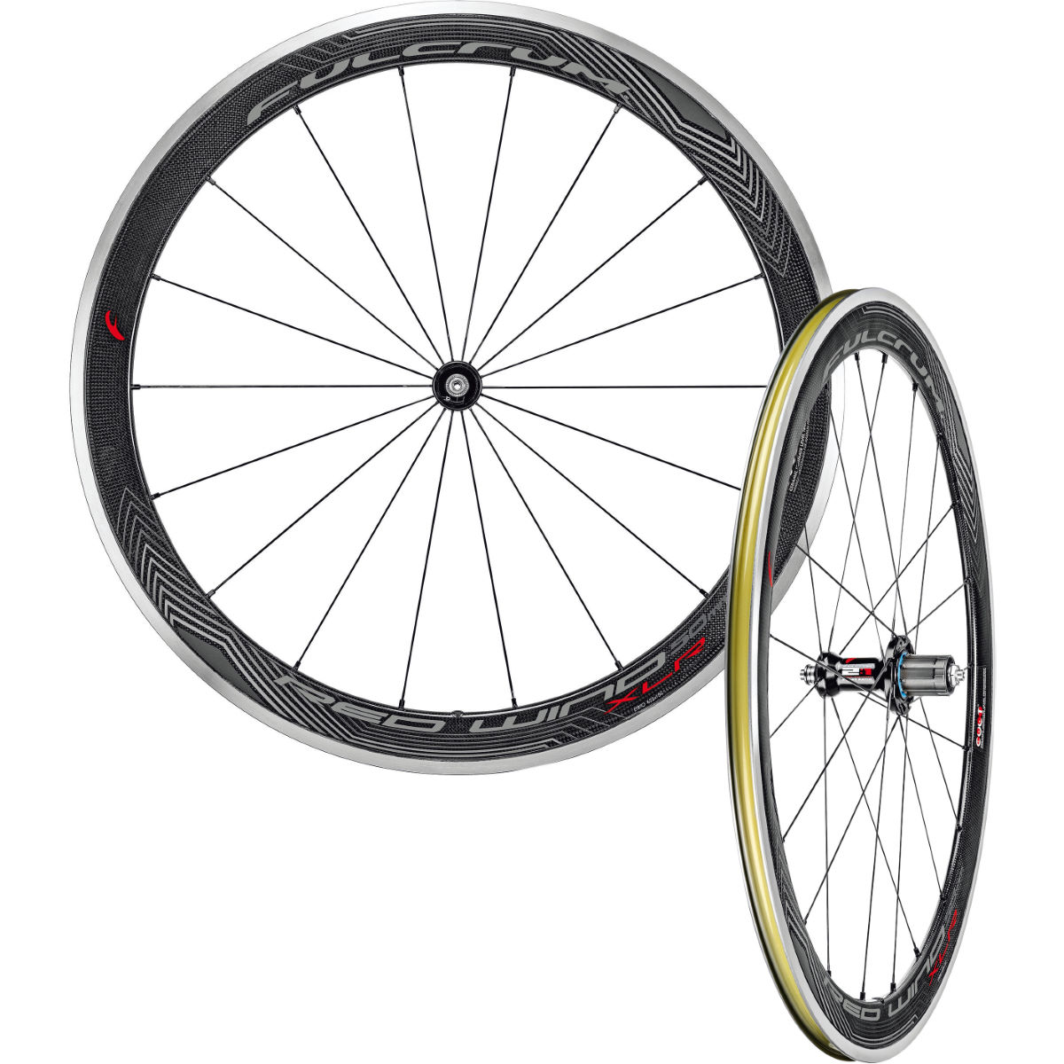Paire de roues Fulcrum Red Wind 50 XLR (CULT) - Shimano/SRAM 9/10/11 Black/Grey/Red Roues performance