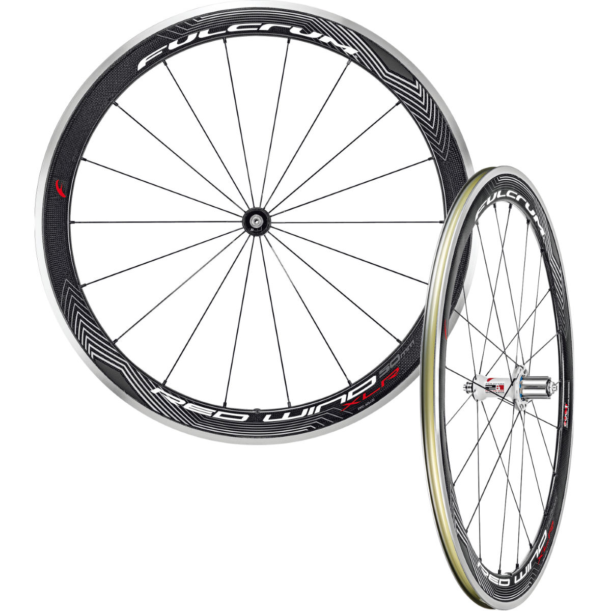 Paire de roues Fulcrum Red Wind 50 XLR (CULT) - Shimano/SRAM 9/10/11 Black/White/Red Roues performance