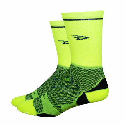 DeFeet Levitator Lite Tall Neon Cycling Socks