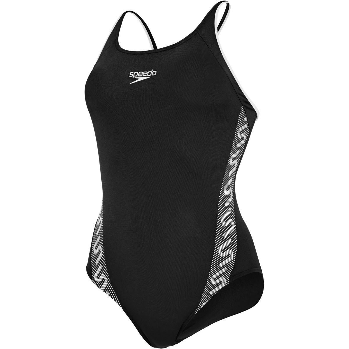 Speedo Womens Monogram Muscleback Swimsuit   Adult Swimwear