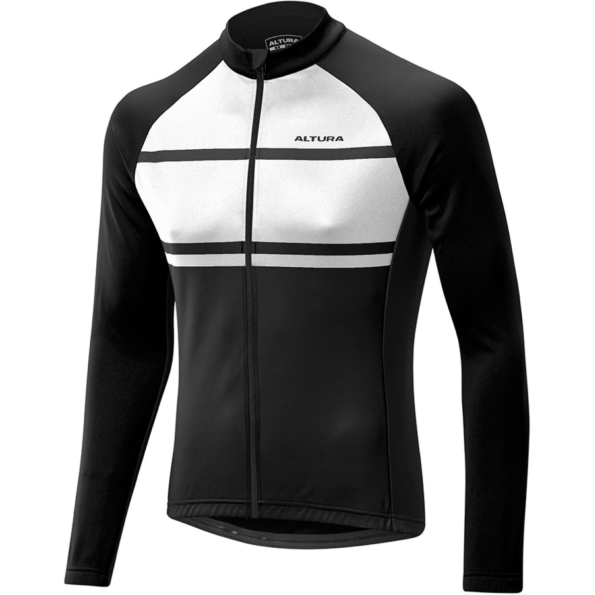 Maillot cycliste Altura Airstream (manches longues) - M Blanc/Noir
