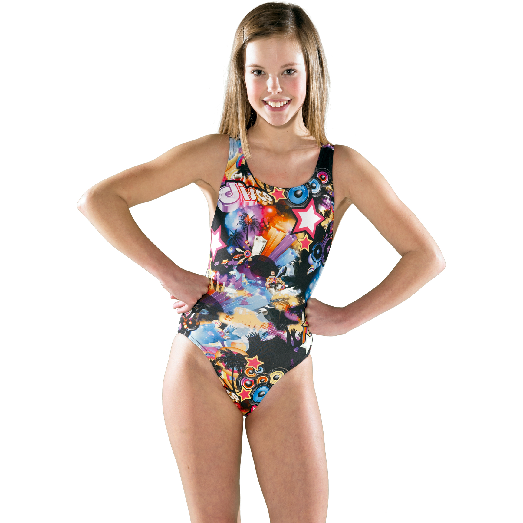Maru Girls Disco B Pacer Auto Back Swimsuit AW13.
