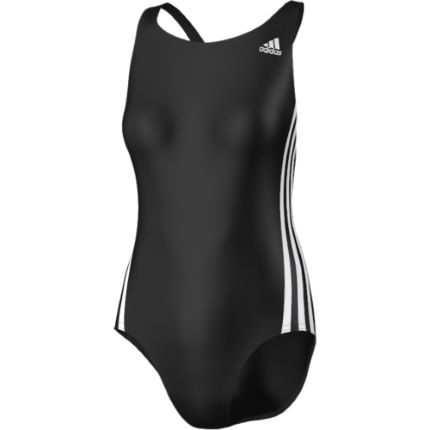 Adidas Women's 3 Stripe Authentic One Piece Swimsuit