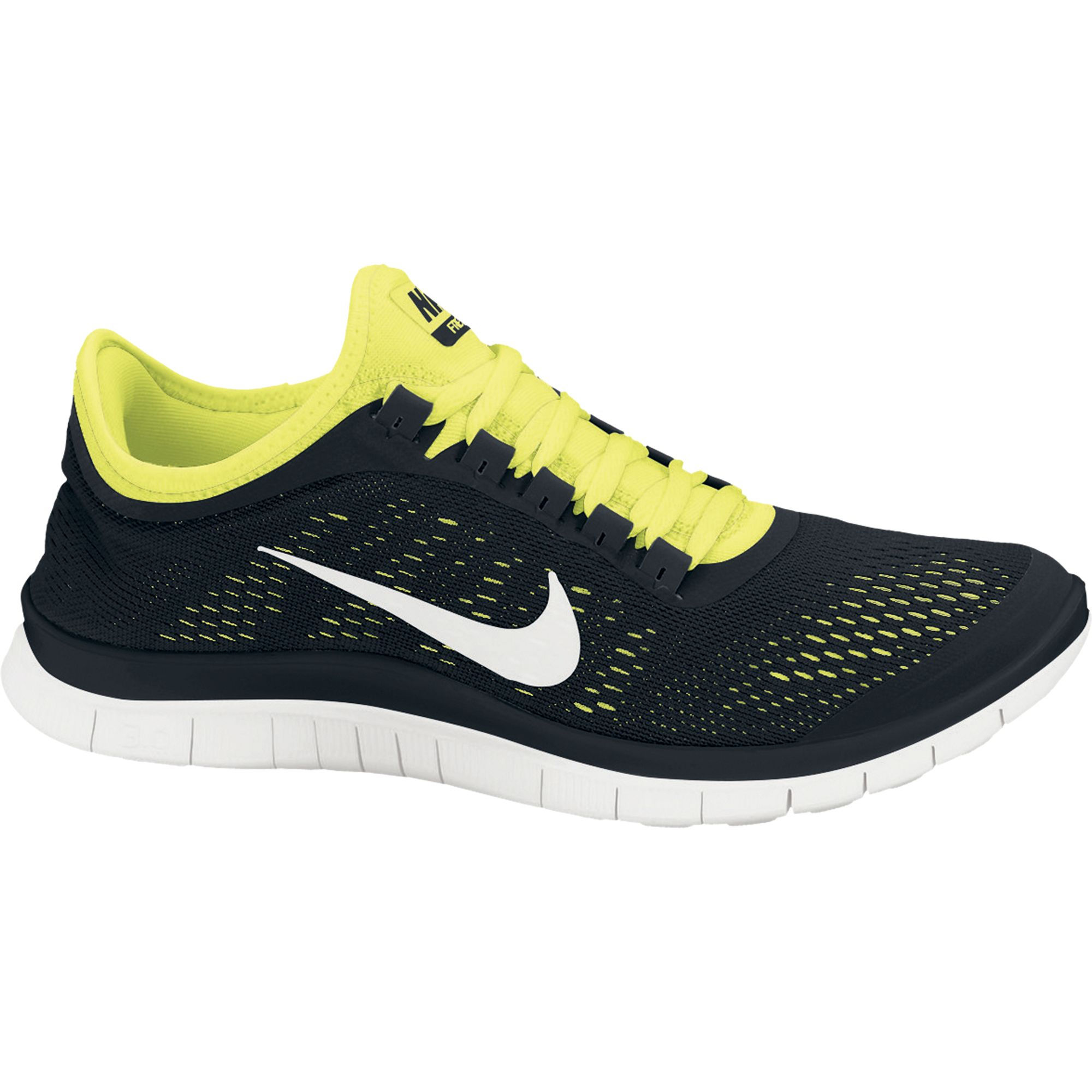 Nike Womens Free 3.0 V3 Running Shoes, Dark Grey, 9