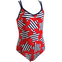 Zoggs Girls Milton Flyback Swimsuit - AW13