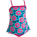 Zoggs Kids Girls Spring Cove X-Back Swimdress - AW13