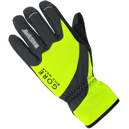 Gore Bike Wear Tool Windstopper Softshell Neon Gloves