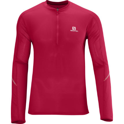 Salomon Trail Runner Long Sleeve Zip Tee - AW13