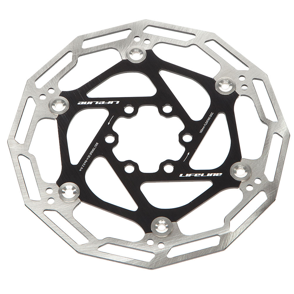 Wiggle Lifeline Floating Disc Rotor 160mm Disc Brake Rotors