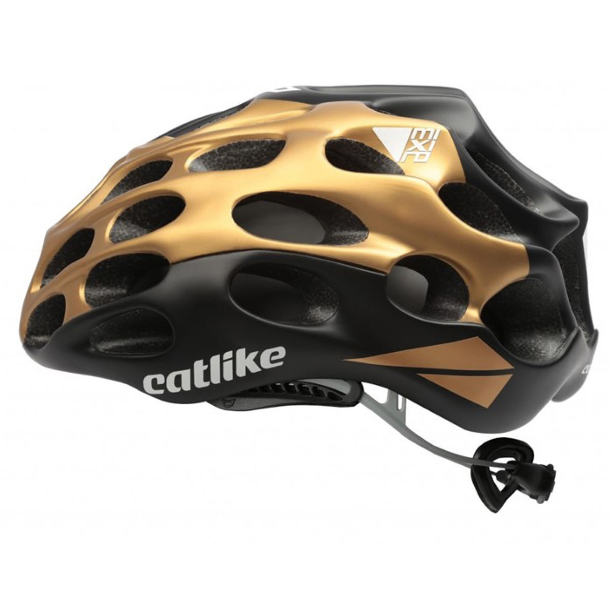 Casque de route Catlike Mixino - S Black/Gold/Black Casques de route