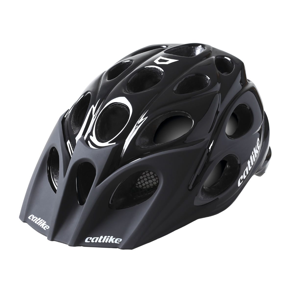 Casque VTT Catlike Leaf - L Black Glossy Casques