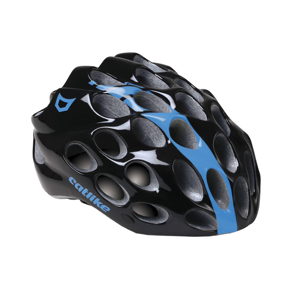 Casque Catlike Whisper - Small Glossy Black/Blue Casques de route