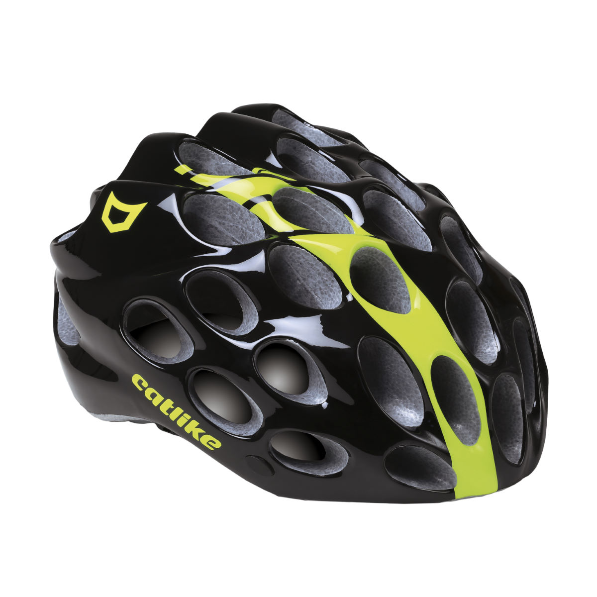 Casque Catlike Whisper - Medium Glossy Black/Yellow Casques de route