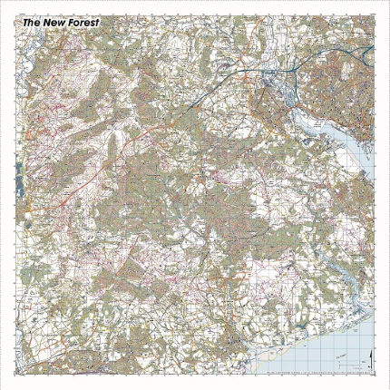 SplashMaps New Forest Waterproof Map