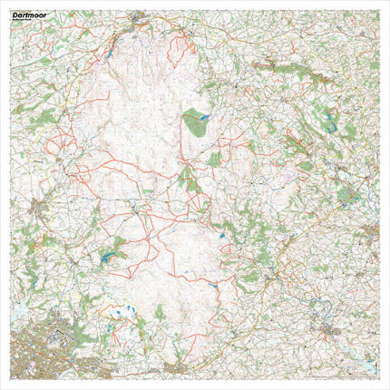 SplashMaps Dartmoor Waterproof Map
