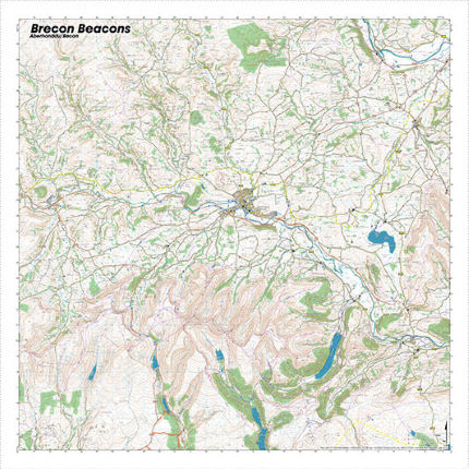 SplashMaps Brecon Beacons Waterproof Map