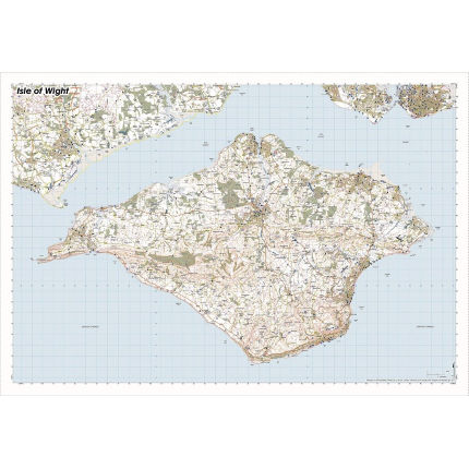 SplashMaps Isle of Wight Waterproof Map