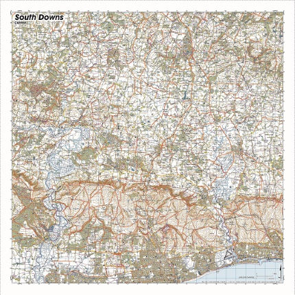 SplashMaps South Downs Central Waterproof Map