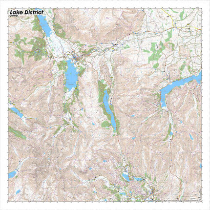 SplashMaps Lake District Central Waterproof Map