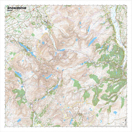 SplashMaps Snowdonia Central Waterproof Map