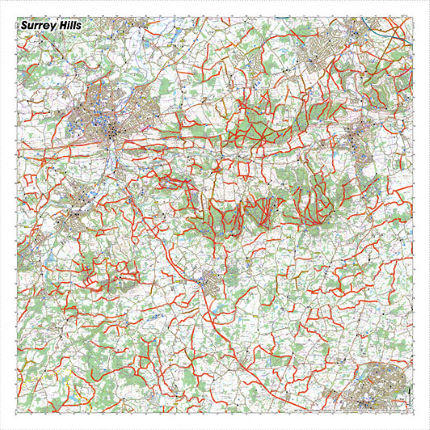SplashMaps Surrey Hills Waterproof Map