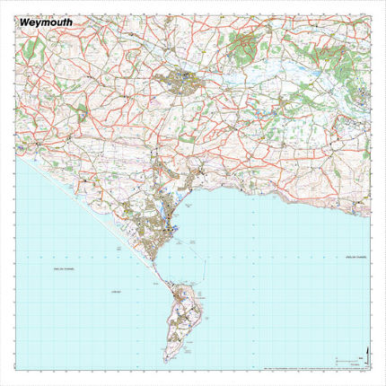SplashMaps Weymouth Waterproof Map