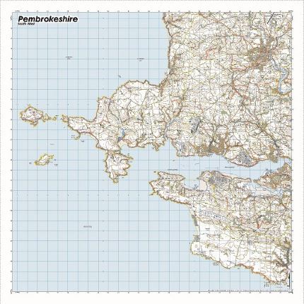 SplashMaps Pembrokeshire National Park SW Waterproof Map