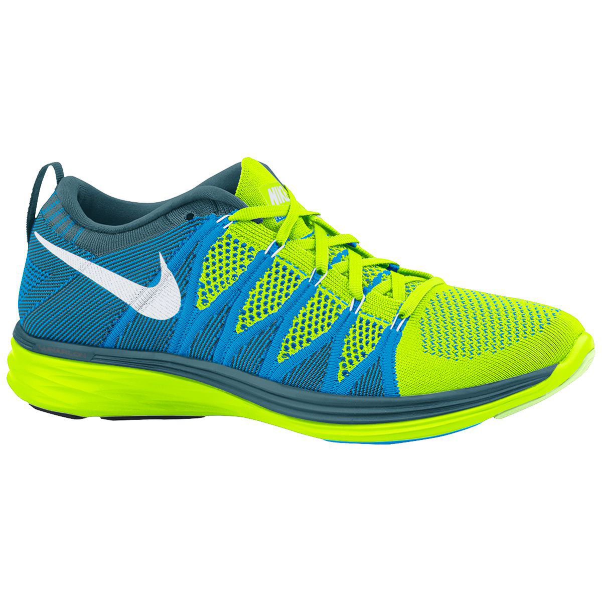 Nike-Flyknit-Lunar2-Shoes-SP14-Cushion-Running-Shoes-Yellow-White-Blue