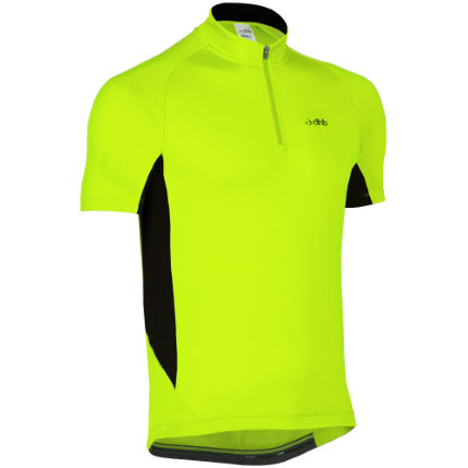 dhb Active Hi Viz Panelled Short Sleeve Jersey
