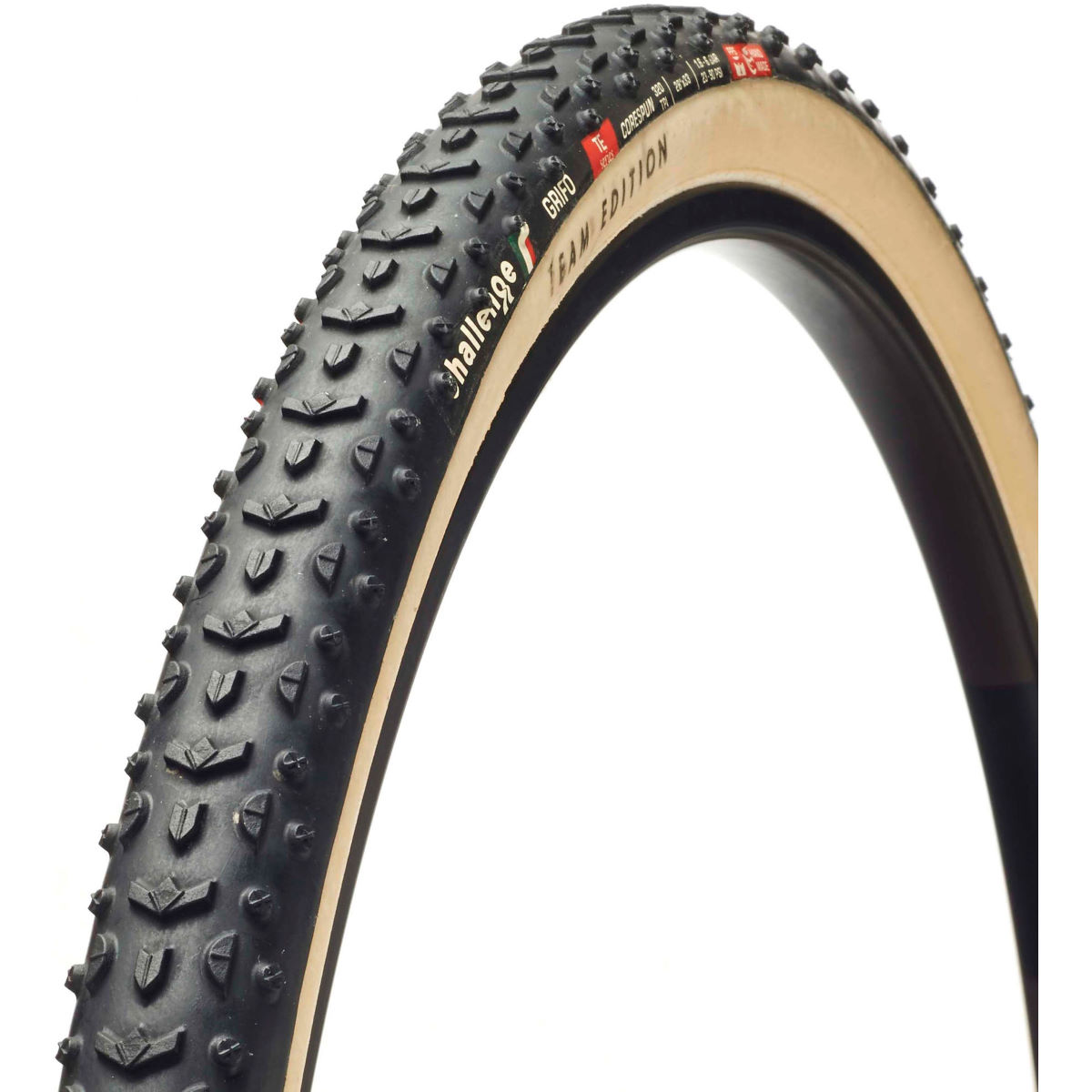 Pneu/Boyau de cyclo-cross Challenge Grifo 33 Team Edition - 700 x 33c Black/Brown Pneus cyclo-cross