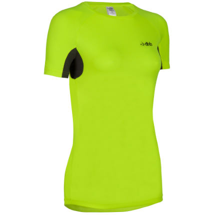 dhb Women's Active Hi Viz Short Sleeve Run Top - AW14