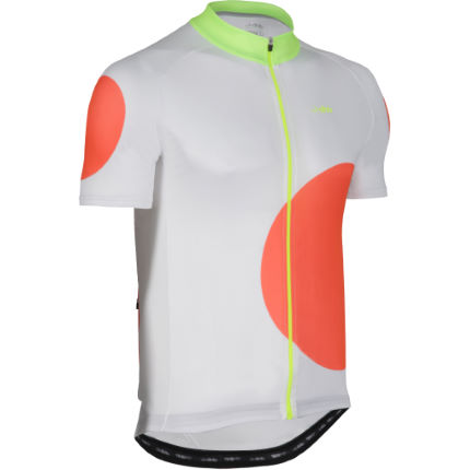 dhb Blok Orange Circle Short Sleeve Jersey