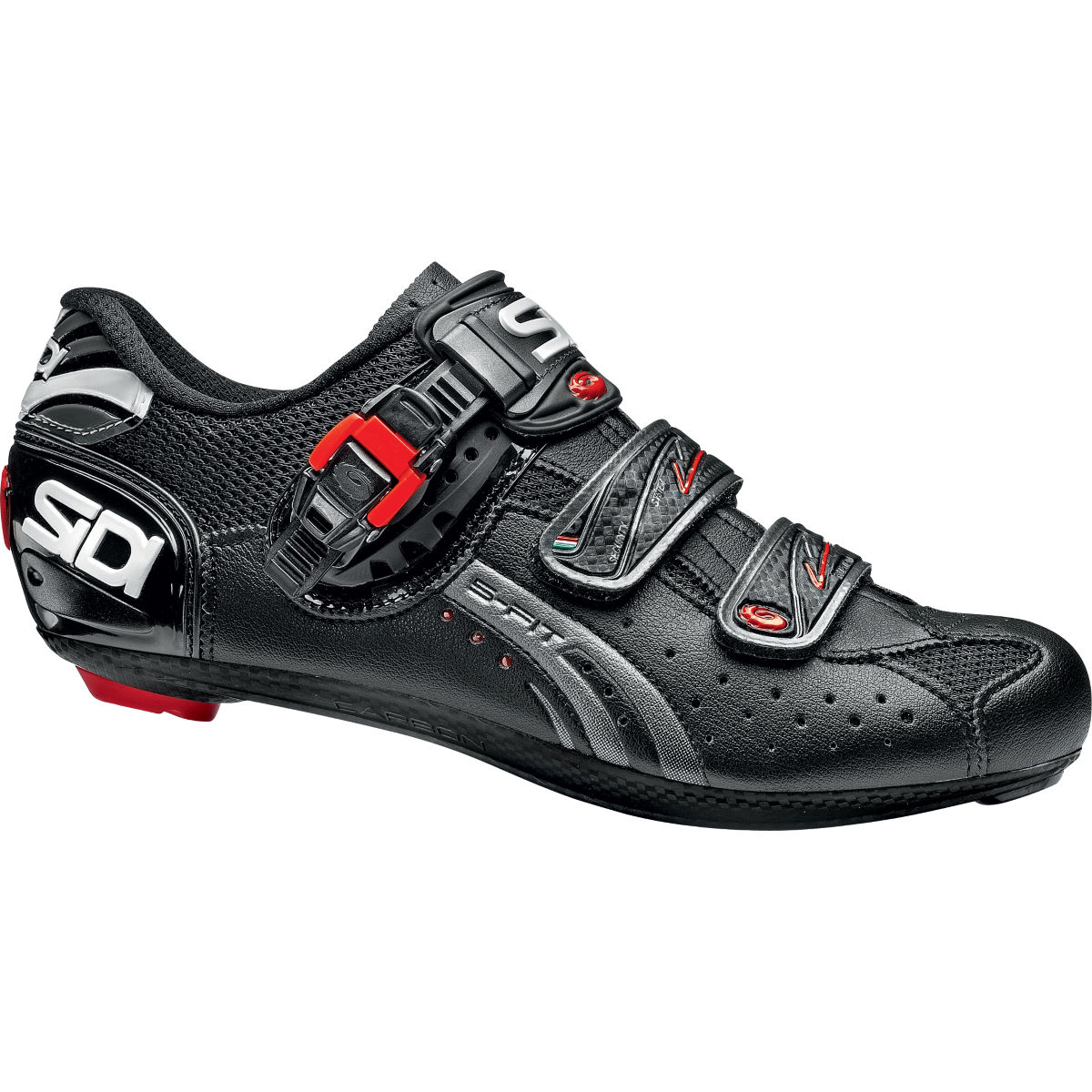 Chaussures de route Sidi Genius 5-Fit Carbon - 52 Black/Black