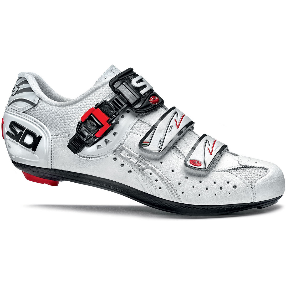 Chaussures de route Sidi Genius 5-Fit Carbone Mega (2015) - 50 Blanc