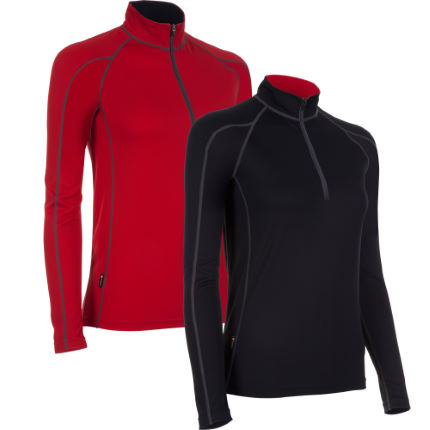 dhb Women's Corefit Zip Neck Base Layer - Pack of 2