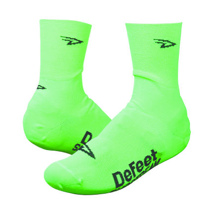 DeFeet Slipstream Neon Overshoes Pink 2 S/M