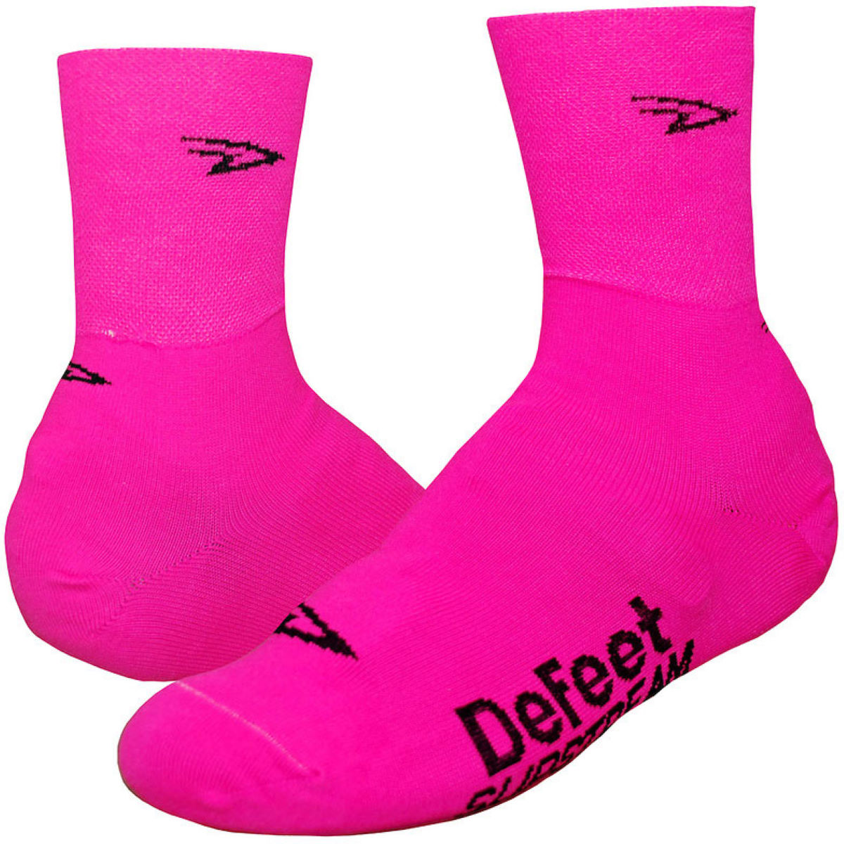 Couvre-chaussures DeFeet Slipstream (fluos) - L/XL Rose