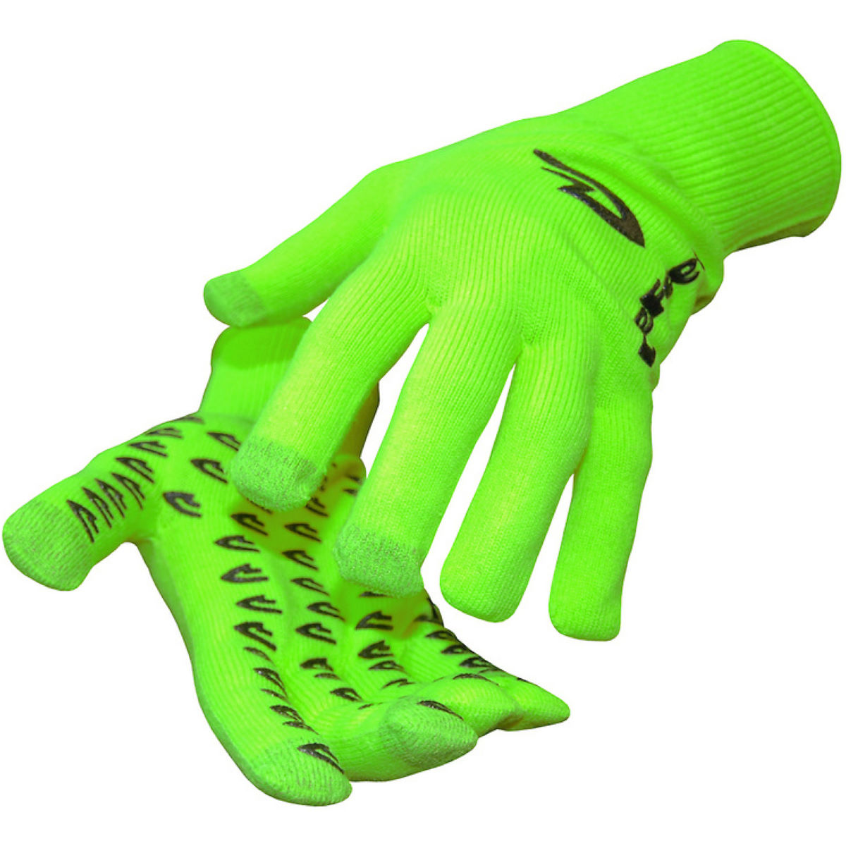 Gants DeFeet E-Touch Neon Dura - L Hi-Vis Green/Black