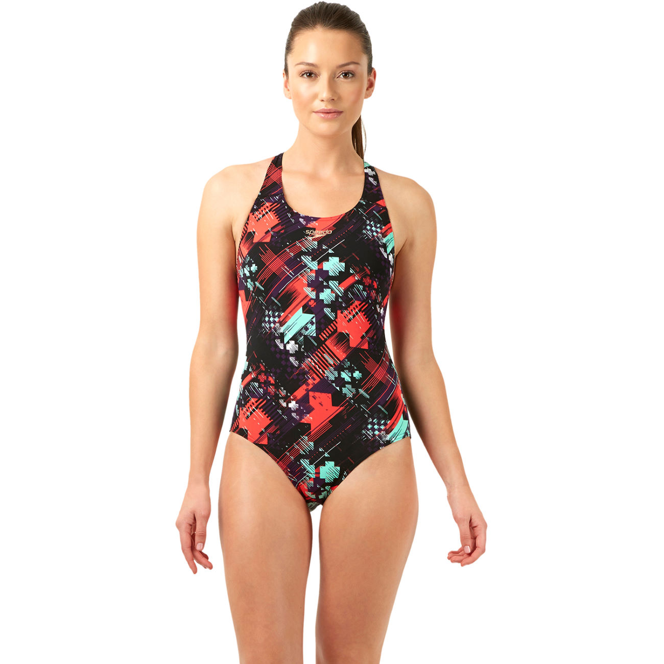 maillots de bain femme speedo women 39 s allover powerback print 2 swimsuit ss14 wiggle france. Black Bedroom Furniture Sets. Home Design Ideas