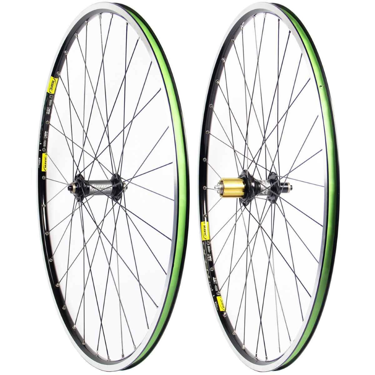 Paire de roues Hope Hoops Mono RS - Shimano/Sram 10/11Sp Black - Open Pro Roues performance