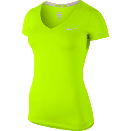 Nike Women's Pro Short Sleeve V Neck - SP14