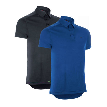 dhb Short Sleeve Merino Polo-Pack of 2