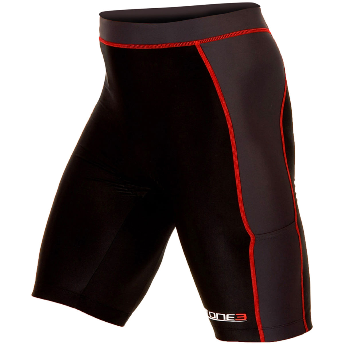 Cuissard Zone3 Lava Tri - XL Black/Grey/Red Cuissards de triathlon