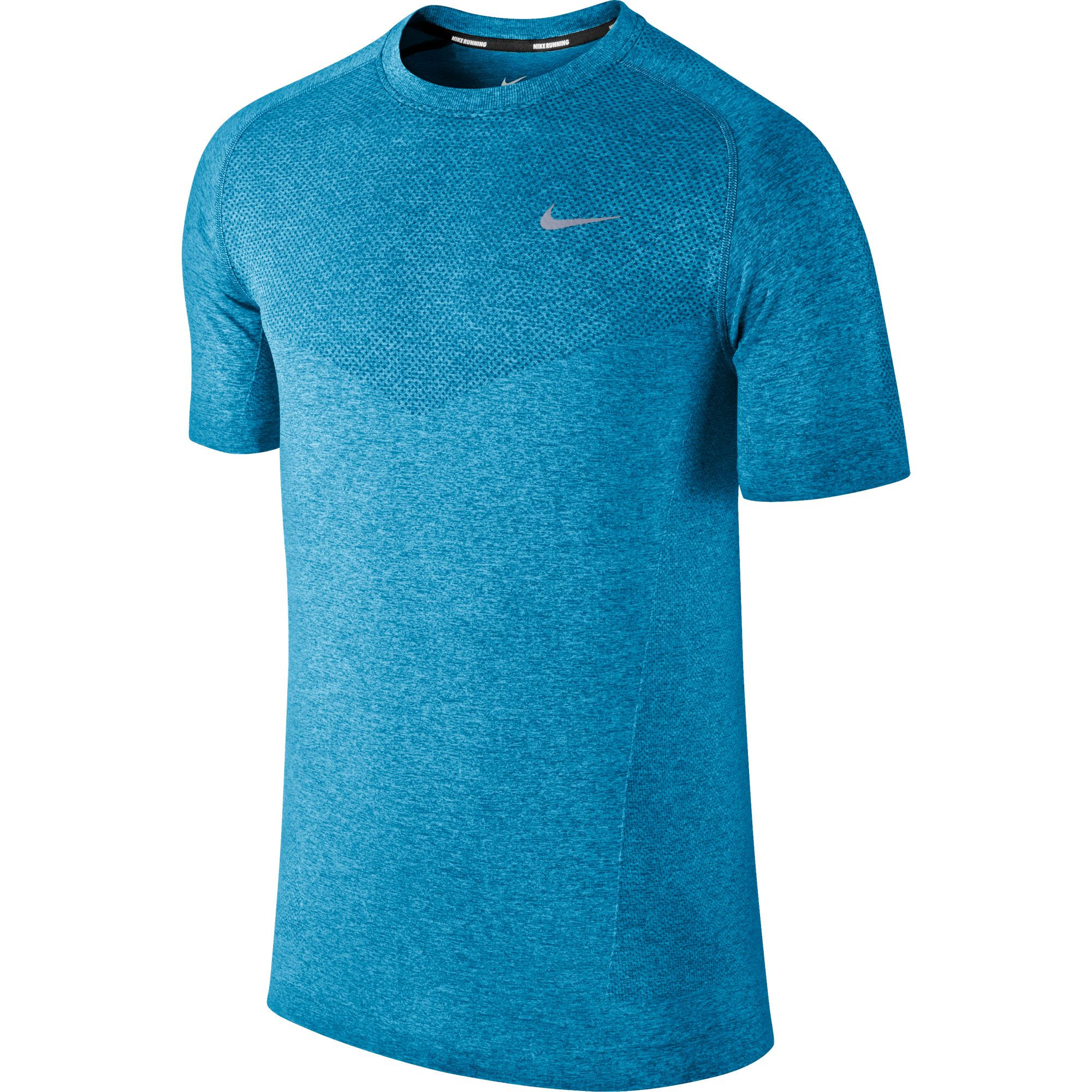 Wiggle nike dri fit knit short sleeve sp14 running for Dri fit dress shirts